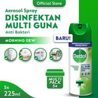 Dettol Disinfectant Spray Morning Dew 225ml - 5 Pcs
