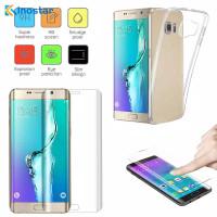 Anti gores Film dan softcase Silikon Samsung Galaxy S6 edge Plus