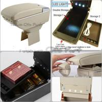 Armrest Console Box Universal Ayla Agya Livina Ertiga Dual Layer 7Usb