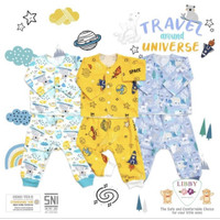 baju anak bayi LIBBY boy setelan set piyama tidur laki - NB 0-3 bulan