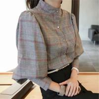 ONNIEFASHION Scotch Band Collar Shirt Import 8767 Atasan Blouse Wanita