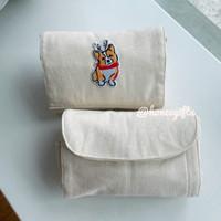 Tas belanja shopping bag lipat kanvas kado hampers natal puppy corgi