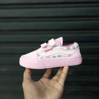 Sepatu Anak Vans Old Skool Pink Leopard