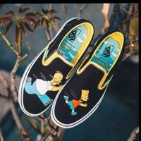 Sepatu Vans Slip On The Simsons Homer Bart Premium BNIB Waflle DT