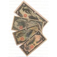uang kuno jepang military china 1940 set 1-100 yen