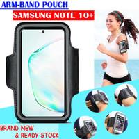 Samsung Galaxy Note 10 Plus Armband Pouch Arm Band Sport Sarung Lengan - Hitam