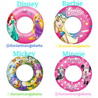 Ban Pelampung Renang Anak Bulat Bestway Minnie Hot Wheels Princess - minnie