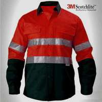 Baju Wearpack Kerja Safety Lapangan Proyek K3 HSE Reflective 3M Merah