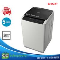 Mesin Cuci 1 Tabung Sharp ESG 876 P GY 7KG Quick Wash Zero Pressure