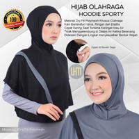 Jilbab Olahraga Sport Hoodie Muslimah Bahan Kain Dry Fit Premium