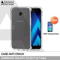 Anti Crack Samsung Galaxy A3 (2017) | Softcase Anti Bentur + FREE TG