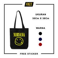 Totebag Band Nirvana Tote Bag Distro Tas Musik Punk Pria Wanita Murah