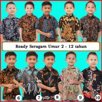 Kemeja Batik Anak Laki Laki Murah Cowok Boy Shirt Kuda Fashion