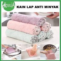 Kain Lap Microfiber Anti Minyak Dish Towel Lap Meja Piring Serbaguna