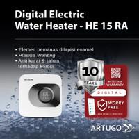ARTUGO DIGITAL ELECTRIC WATER HEATER HE 15 RA - Remote 15 Liter