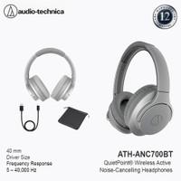 Audio Technica ATH ANC700BT Wireles Noise Cancelling Headphones Grey