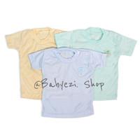 baju oblong bayi kancing bahu newborn ( isi 3pcs) Merk TIREX SNI - M