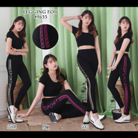 Setelan baju senam aerobik/ fitness olahraga gym yoga wanita import