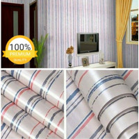S47 Wallpaper Sticker Stripe - Wallpaper Dinding Garis