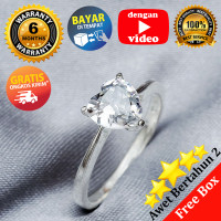 RL 204 - Ring Silver Emas Putih ASLI, Made in Korea-Garansi 6 bulan