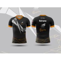 Baju Kaos Tshirt Jersey Pria Gaming Esport PUBG FreeFire Mobile Legend