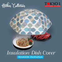 Tokyo1 Dish Hexagon 70x25cm Tudung Saji Lipat Penahan Panas (155064)