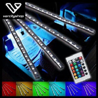 4 Pcs DRL LED Kolong / Lampu Dekorasi Dashboard 16 Warna + Remote RGB