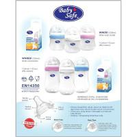 WN001/WN002 botol susu wide neck Baby Safe 125ml/250ml