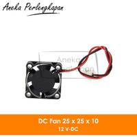 DC Mini Cooling Fan 2510 12V for 3D Printer / Computer 2 pin
