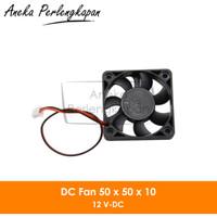 DC Mini Cooling Fan 5010 12V for 3D Printer / Computer 2 pin