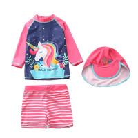 Baju Renang Anak Perempuan Unicorn swimsuit termasuk topi
