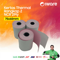 KERTAS STRUK KASIR NCR 75 X 60 mm - 2PLY - RANGKAP 2 - NCR 2 PLY