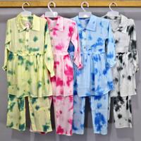 Setelan Tie Dye Baju Anak Perempuan/ Kekinian/ Tiedye/ No.1-16