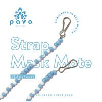 Tali Masker / Strap Mask Pavo Mote - Blue White