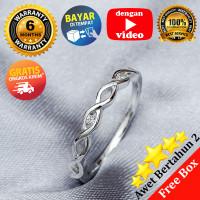 RL 256 - Cincin Perak Sterling 925 Emas Putih ASLI Korea, Awet 7 thn
