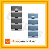 Lemari Laci Plastik Lion Star Susun 4 Excel Container M 4 XC 9 Kabinet