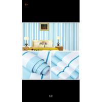 S46 Wallpaper Sticker Stripe - Wallpaper Dinding Garis