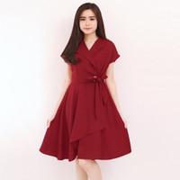 BM - Chelsea Dress Baju Wanita Imlek CNY Fashion LMC - Maroon