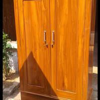 lemari pakaian kayu jati 2 pintu