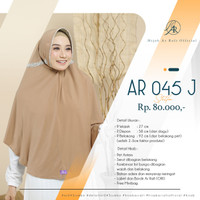 Terbaru Hijab Instan Jumbo Syari Arrafi AR 45 J Bunga Serut Belakang