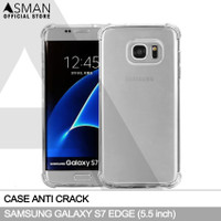 Softcase Anti crack Casing for Samsung Galaxy S7 edge - Clear