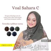 Hijab Fashion Bahan Voal Motif Harga Murah Grosir Warna Navy, Coklat