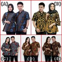 Batik Couple Keluarga Sarimbit Batik Mama Papa / Baju Batik Kantor