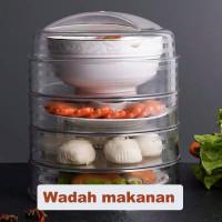 tudung saji susun transparan / tudung saji penahan panas /food storage