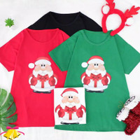 BM - Kaos Wanita Santa Claus Baju Natal Christmas BTC