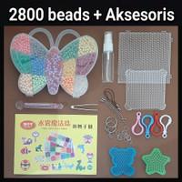 1Set Mainan Kreatif/Edukasi Anak Aquabeads Aqua Beads Kupu-Kupu Beados