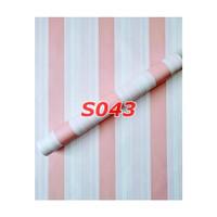 S43 Wallpaper Sticker Stripe - Wallpaper Dinding Garis
