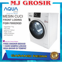 MESIN CUCI FRONT LOADING AQUA JAPAN FQW 700829 QD INVERTER 7 KG