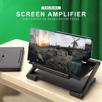 Phone Screen Magnifier Amplifier Pembesar Layar Hp Phone HD 3D Lipat - Tanpa Remote