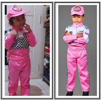 Baju pembalap anak perempuan Anakkuimut Warna pink muda Kostum balap